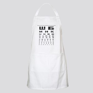 Russian letters eye chart BBQ Apron