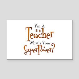 Super Teacher Rectangle Car Magnet