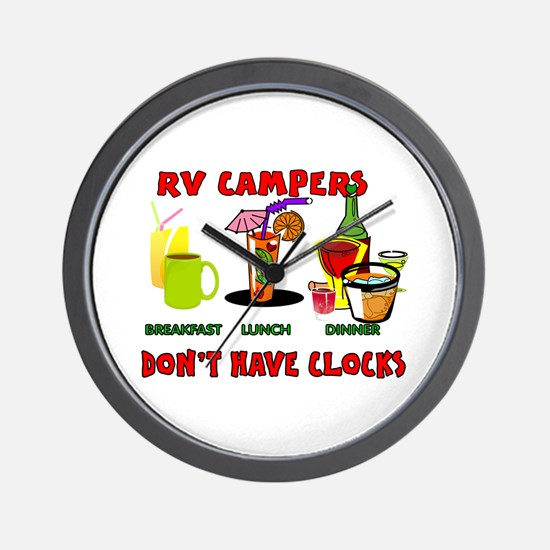 RV CAMPERS Wall Clock