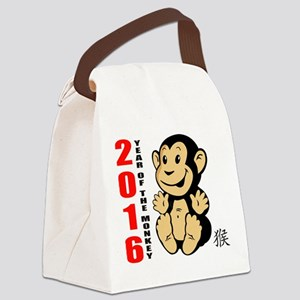 2016 Year of The Monkey Baby Canvas Lunch Bag