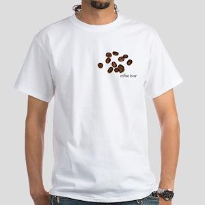 "White T-Shirt ""Coffee Lover"""