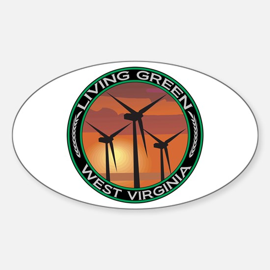 Living Green West Virginia Wind Power Decal