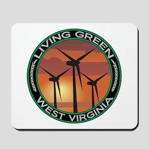 Living Green West Virginia Wind Power Mousepad