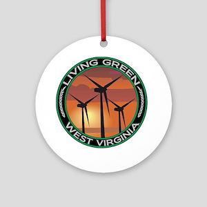 Living Green West Virginia Wind Power Ornament (Ro