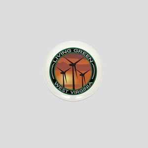 Living Green West Virginia Wind Power Mini Button