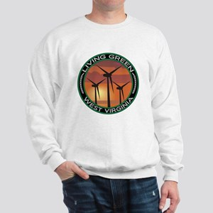 Living Green West Virginia Wind Power Sweatshirt