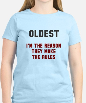 Oldest Middle Youngest Rules Women's Light T-Shirt