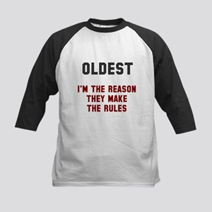 Oldest Middle Youngest Rules Kids Baseball Jersey