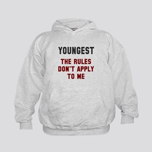 Oldest Middle Youngest Rules Kids Hoodie