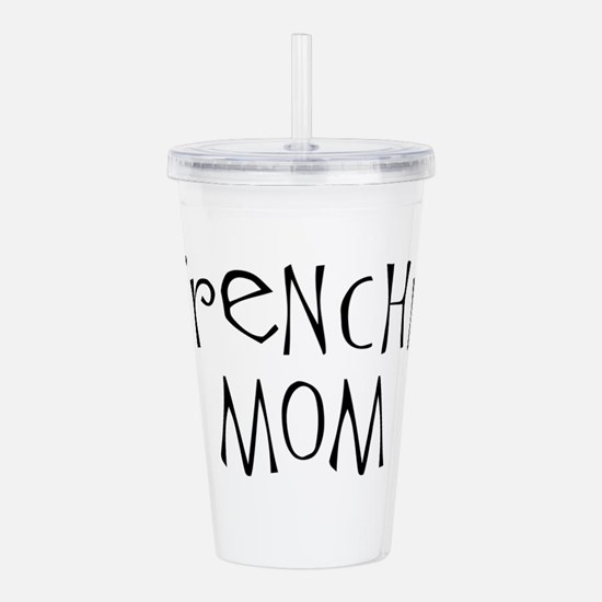 Frenchie Mom Pawprints Acrylic Double-wall Tumbler