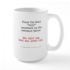 Only - English is a strange language Mugs