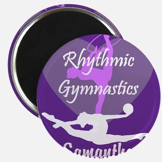 Purple Rhythmic Gymnastics Magnets