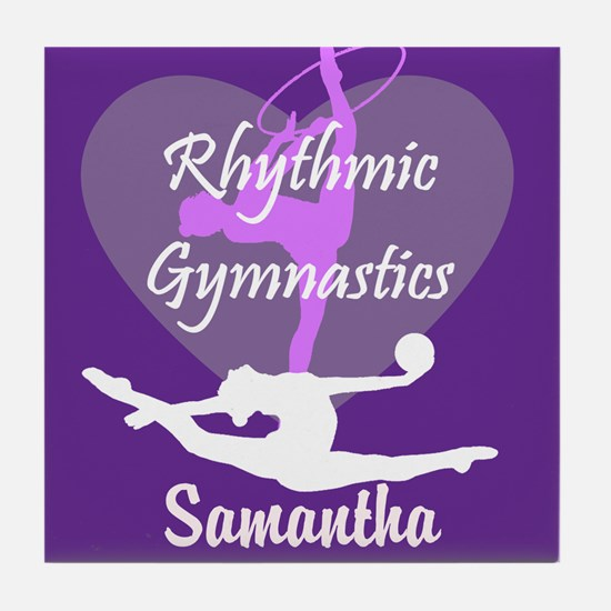 Purple Rhythmic Gymnastics Tile Coaster