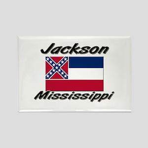 Jackson Mississippi Rectangle Magnet