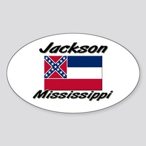 Jackson Mississippi Oval Sticker