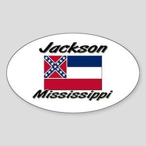 Jackson Mississippi Oval Sticker