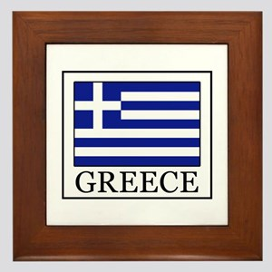 Greece Framed Tile