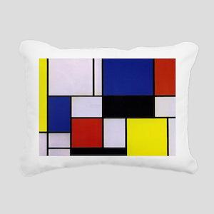 Mondrian-1 Rectangular Canvas Pillow