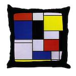 Mondrian-1 Throw Pillow