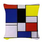 Mondrian-1 Woven Throw Pillow