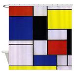 Mondrian-1 Shower Curtain