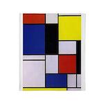 Mondrian-1 Throw Blanket