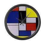 Mondrian-1 Large Wall Clock