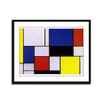 Mondrian-1 Framed Panel Print