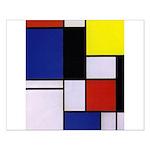 Mondrian-1 Small Poster