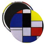 Mondrian-1 Magnet