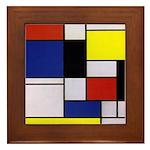 Mondrian-1 Framed Tile