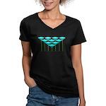Love Flower 39 Women's V-Neck Dark T-Shirt