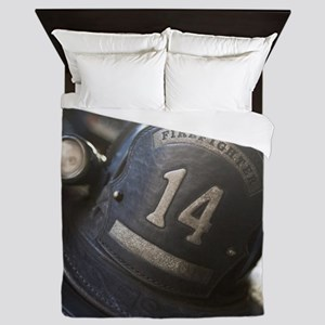 FIREMANS HELMET Queen Duvet