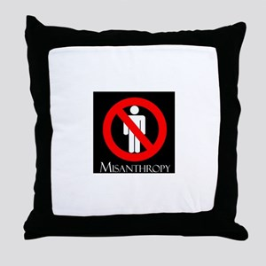 MISANTHROPY Throw Pillow