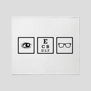 Optician Throw Blanket