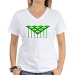 Love Flower 43 Women's V-Neck T-Shirt