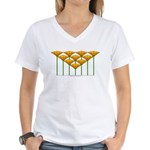 Love Flower 46 Women's V-Neck T-Shirt