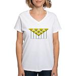 Love Flower 48 Women's V-Neck T-Shirt