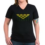 Love Flower 49 Women's V-Neck Dark T-Shirt