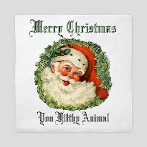 merry christmas ya filthy animal Queen Duvet
