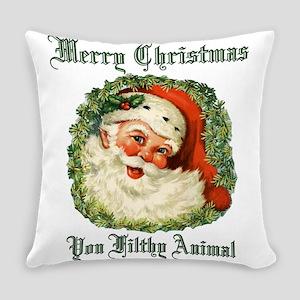 merry christmas ya filthy animal Everyday Pillow