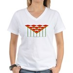 Love Flower 50 Women's V-Neck T-Shirt
