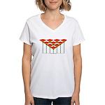 Love Flower 50 Women's V-Neck T-Shirt