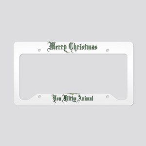 merry christmas ya filthy ani License Plate Holder