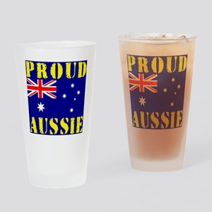 Proud Aussie Drinking Glass