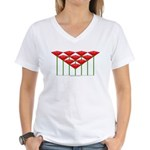 Love Flower 52 Women's V-Neck T-Shirt