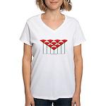 Love Flower 52 Women's V-Neck T-Shirt
