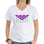 Love Flower 53 Women's V-Neck T-Shirt