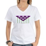 Love Flower 54 Women's V-Neck T-Shirt