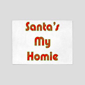 Santa's My Homie 5'x7'Area Rug